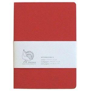 ノート ドレスコ(Dressco) Sサイズ プライク ノートブック レッド No. 480319|nomado1230