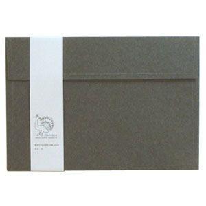 封筒 ドレスコ(Dressco) GRAND 里紙 封筒 5セット 鼠 No. 512418|nomado1230