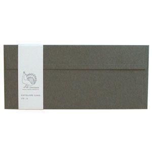 封筒 ドレスコ(Dressco) LONG 里紙 封筒 5セット 鼠 No. 512459|nomado1230