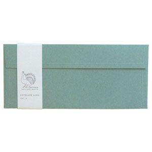 封筒 ドレスコ(Dressco) LONG 里紙 封筒 5セット 水 No. 512467|nomado1230