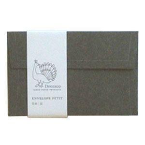 封筒 ドレスコ(Dressco) プチ 里紙 封筒 5セット 鼠 No. 512491|nomado1230