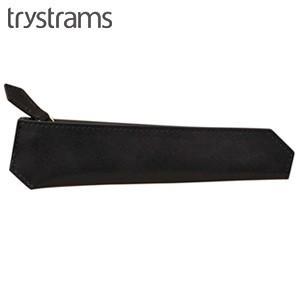 ペンケース 革 名入れ トライストラムス(trystrams) ペンケース スリム ブラック THA-MC01D|nomado1230