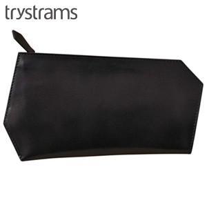パスポートケース メンズ 革 名入れ トライストラムス(trystrams) パスポートケース ブラック THA-MC02D|nomado1230
