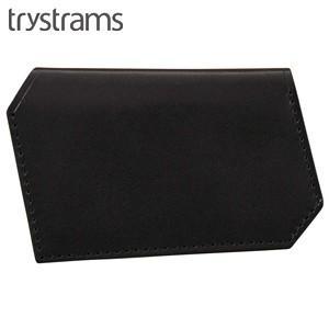名刺入れ メンズ 革 名入れ トライストラムス(trystrams) 名刺ケース ブラック THA-MG03D|nomado1230