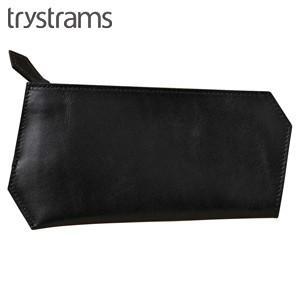 ポーチ 革 名入れ トライストラムス(trystrams) 長財布サイズ ポーチ ブラック THA-MM01D|nomado1230