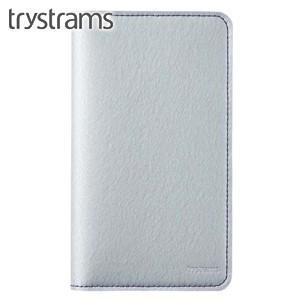 ブックカバー トライストラムス(trystrams) 野帳カバー シルバー×パープル THF-KN08CV|nomado1230