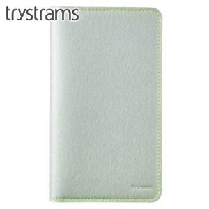 ブックカバー トライストラムス(trystrams) 野帳カバー シルバー×イエロー THF-KN08CY|nomado1230