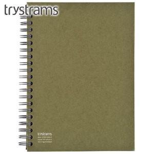 ノート A5 トライストラムス(trystrams) Smooth ツインリングノート FREENOTE A5 オリーブ THF-KR01G|nomado1230