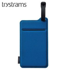 ポーチ トライストラムス(trystrams) Smooth SPREAD ポケッタブルポーチ ブルー THF-MC02B|nomado1230