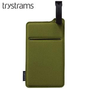 ポーチ トライストラムス(trystrams) Smooth SPREAD ポケッタブルポーチ カーキ THF-MC02G|nomado1230