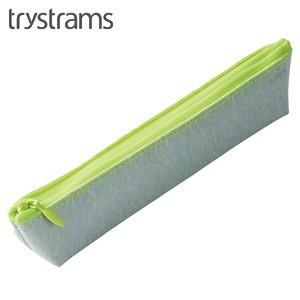 ペンケース トライストラムス(trystrams) スリム ペンケース シルバー×イエロー THF-MC05CY|nomado1230