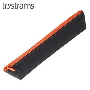 ペンケース トライストラムス(trystrams) スリム ペンケース ブラック×オレンジ THF-MC05DYR|nomado1230