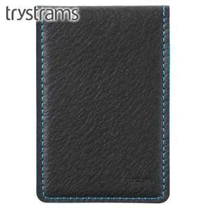 カードケース トライストラムス(trystrams) カードケース ブラック×ライトブルー THF-MG07DLB|nomado1230