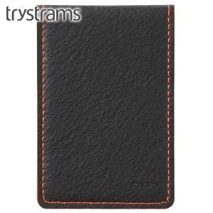 カードケース トライストラムス(trystrams) カードケース ブラック×オレンジ THF-MG07DYR|nomado1230