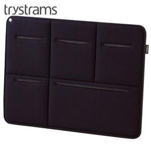インナーバッグ A4 トライストラムス(trystrams) Smooth SPREAD A4用サイズ キャリングケース ブラック THF-MM01D|nomado1230