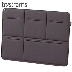 インナーバッグ A4 トライストラムス(trystrams) Smooth SPREAD A4用サイズ キャリングケース グレー THF-MM01M|nomado1230