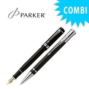 パーカー スペシャルコンビセット デュオフォールド インターナショナル 万年筆&ボールペン ブラックPT S1110152COMBISET|nomado1230