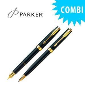 パーカー スペシャルコンビセット ソネット オリジナル 万年筆&ボールペン ラックブラックGT S11130101COMBISET|nomado1230
