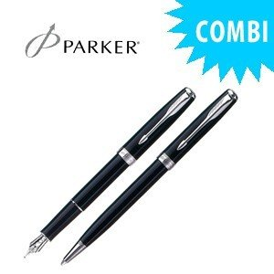 パーカー スペシャルコンビセット ソネット オリジナル 万年筆&ボールペン ラックブラックCT S11130111COMBISET|nomado1230