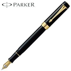 パーカー デュオフォールド クラシック センテニアル 万年筆 ブラックGT 193138-|nomado1230