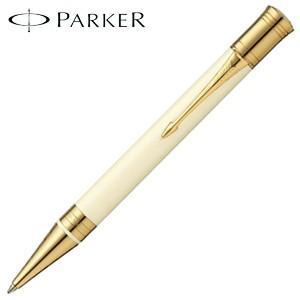 高級 ボールペン 名入れ パーカー デュオフォールド クラシック ボールペン アイボリー&ブラックGT No. 1931396|nomado1230