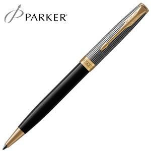高級 ボールペン 名入れ パーカー ソネット プレミアム ボールペン シルバー&ブラックシズレGT No. 1931540|nomado1230