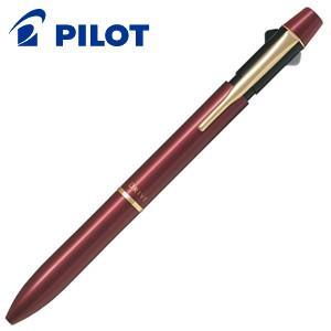 高級 マルチペン 名入れ パイロット ツープラスワン アクロ ドライブ 多機能ペン ディープレッド BKHD-250R-DR|nomado1230