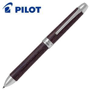 高級 マルチペン 名入れ パイロット レグノ 3色油性ボールペン ダークブラウン BKTL-3SK-DBN|nomado1230