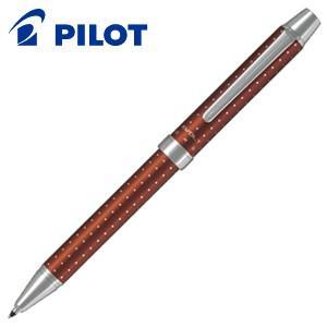 高級 マルチペン 名入れ パイロット ツープラスワン エボルト 多機能ペン ドットブラウン BTHE-150R-DBN|nomado1230