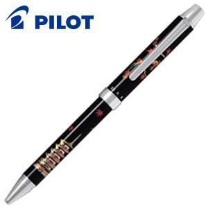 高級 マルチペン パイロット ツープラスワン 雅絵巻 マルチペン 紅葉と五重塔 BTHM-3SR-MG|nomado1230