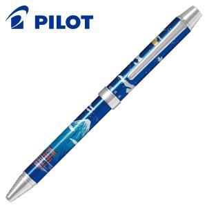 高級 マルチペン パイロット ツープラスワン 雅絵巻 多機能ペン 月と富士山青 BTHM-3SR-TFL|nomado1230