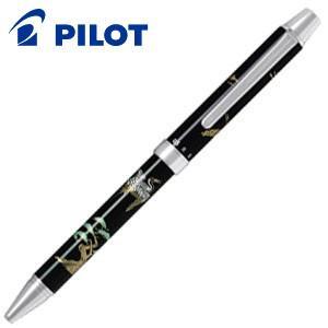 高級 マルチペン パイロット ツープラスワン 雅絵巻 マルチペン 鶴と松 BTHM-3SR-TM|nomado1230