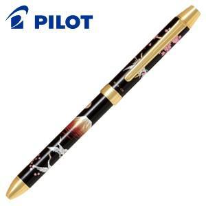 高級 マルチペン パイロット ツープラスワン 雅絵巻 多機能ペン 赤富士 BTHM-5SR-AF|nomado1230