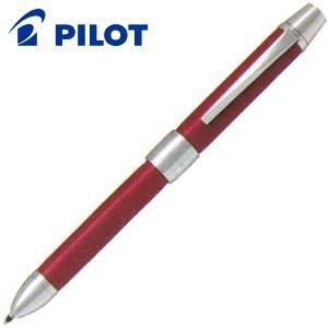 高級 マルチペン パイロット ツープラスワン リッジ レザー マルチペン レッド BTHR-3SL-R|nomado1230