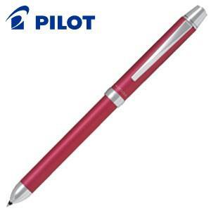 高級 マルチペン 名入れ パイロット ツープラスワン リッジ 多機能筆記具 細字0.7ミリボール黒・赤+0.5ミリシャープ ピンク BTHR-3SR-P nomado1230