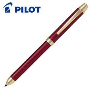 高級 マルチペン 名入れ パイロット ツープラスワン リッジ 多機能筆記具 細字0.7ミリボール黒・赤+0.5ミリ シャープ ワインレッド BTHR-5SR-WR nomado1230