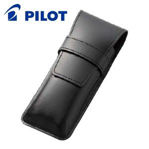 ペンケース 革 名入れ パイロット 革シース 太軸筆記具用 3本差し ペンシース ブラック LSF02-500-B nomado1230
