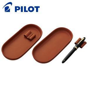 ペントレイ 革 パイロット ソメス 牛革製 ペントレー ペン枕付き ブラウン SLT-01-BN|nomado1230