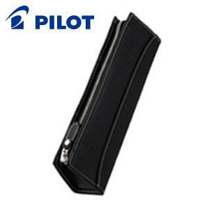 ペンケース 革 名入れ パイロット トレンダーレザー05 牛革製 型押し ペンケース ブラック TLPSF-05-B|nomado1230