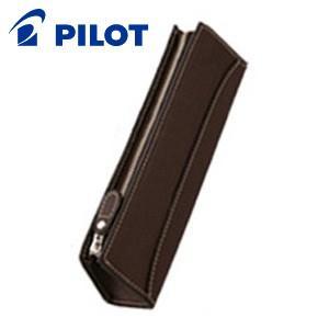 ペンケース 革 名入れ パイロット トレンダーレザー05 牛革製 型押し ペンケース ダークブラウン TLPSF-05-DBN nomado1230