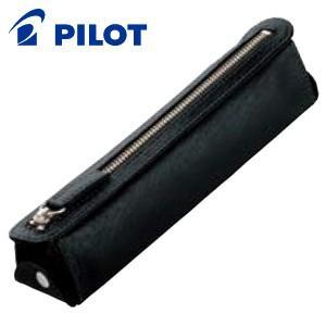 ペンケース 革 名入れ パイロット トレンダーレザーライト ペンケース ブラック TLPSF-07-B|nomado1230