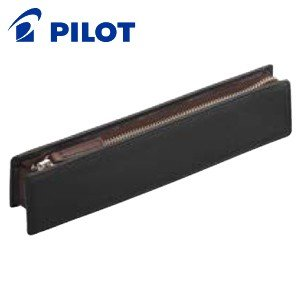 ペンケース 革 名入れ パイロット トレンダーレザー08 B ペンケース ブラック TLPSF-08B-B|nomado1230
