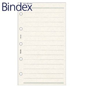 9999 バインデックス Bindex NOLTY ミニ5 ケイページ リフィール 5冊セット クリーム M401|nomado1230