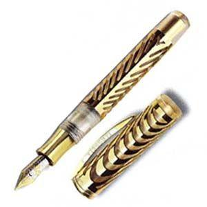 ビスコンティ 限定品 リップル 万年筆 ソリッドゴールド V799AU00M nomado1230