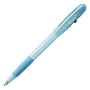 高級 ボールペン ビック(BIC) ステーショナリー ビーユー・ツー グリップ ファッション 油性ボールペン 0.7ミリ 12本セット スカイブルー BU2GFSKY|nomado1230
