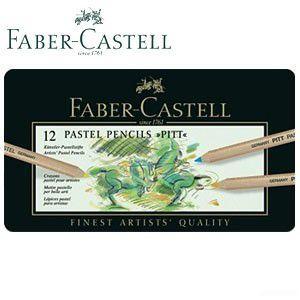 ファーバーカステル ピット シリーズ パステル鉛筆 12色 112112atto|nomado1230