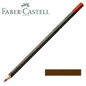 ファーバーカステル アートグリップ 油性色鉛筆 単色 (ブァンダイクブラウン) 12本セット No. 114376|nomado1230
