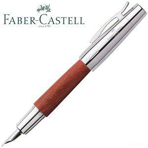 ファーバーカステル エモーション ウッド&クローム 梨の木 万年筆 ブラウン 14820P|nomado1230