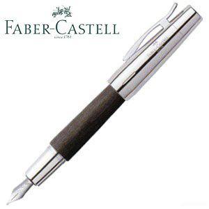ファーバーカステル エモーション ウッド&クローム 梨の木 万年筆 ブラック 14822P|nomado1230