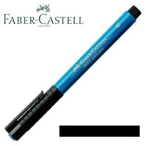 ファーバーカステル ピットシリーズ アーティストペン 単色 (ブラック) 10本セット No. 16719910|nomado1230